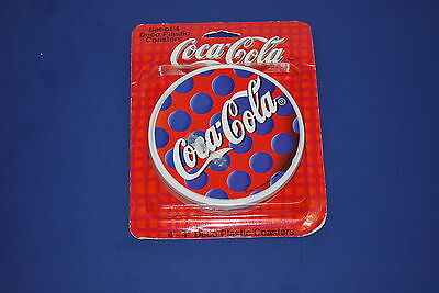 Set of 4 - 1994 Coca-Cola - blue dots  - unopened - NICE!!!