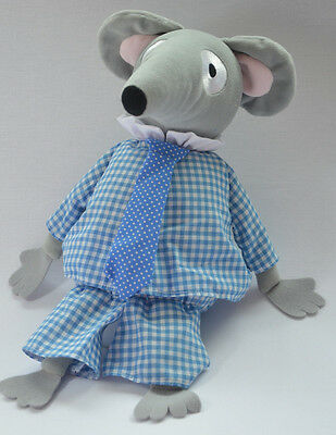 """Large Charlie Mouse from Bagpuss TV Show 12"""" Soft Toy Plush NEW"""