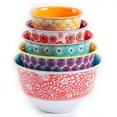 The Pioneer Woman Traveling Vines Nesting Mixing Bowl Set 10-Piece