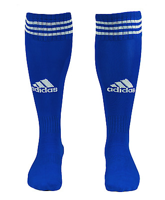 Adidas Game 13 Soccer Stockings Sports Football Crew Socks Blue Pair Sock L48838
