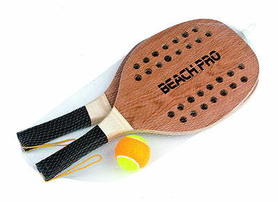 Sport1 set beach tennis pro 2 wood rackets + ball