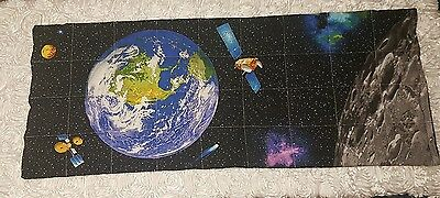 3.5kg weighted XL blanket (autism, sensory) Outer Space w/ black backing print