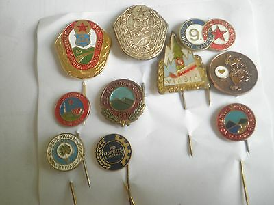 Mountaineering climbing Yugoslavia pin badge lot,Serbia Bosnia Montenegro HIKING