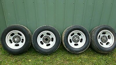 Ford Valiant Chrysler 14X8  Alloy 5 Slots Peanuts Jelly Bean Aunger Set  Of 4