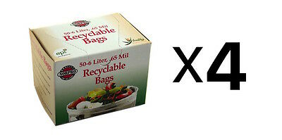 """Norpro Replacement COMPOST BAGS 50 Pack Recyclable Garbage 14"""" x 14"""" (4-Pack)"""