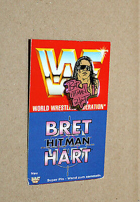 1993 WWF WWE Wrestling Rare Retro Collectible Super Pin : Bret Hart Hitman