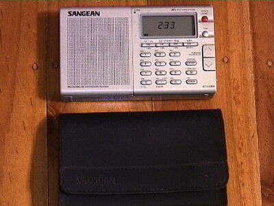 Sangean Ats-606A Fm/lw/mw/sw Synthesized Receiver World Band Radio +Pouch-Works!
