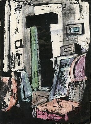 Sidney Horne Shepherd, Abstract Composition - Mid-20th-century mixed media