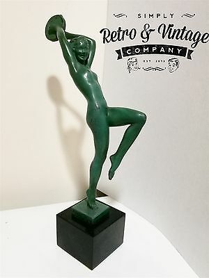 "LE VERRIER Art Deco Nude Dancer ""Esmeralda"" signed GUERBE c1930s Le Faguays"