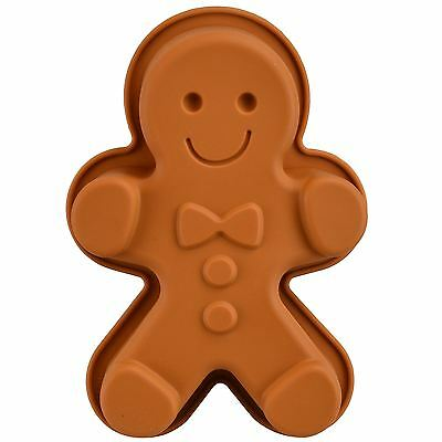 Large Silicone Gingerbread Man Mould Home Baking Shape Deep Biscuit Jelly Cake