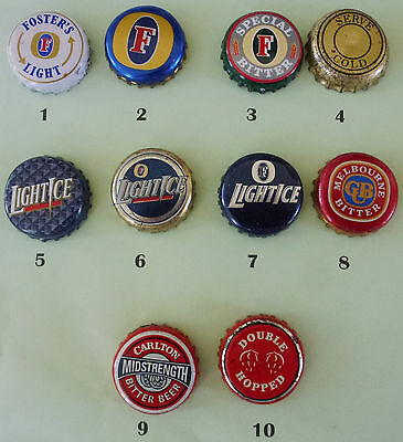 10 Fosters & Carlton Crown Seals from Australia (Lot 5)