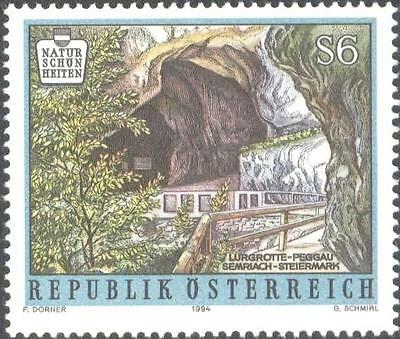 AUSTRIA  Mint stamp  Styria National Parks Caves Trees Environment Nature 1994