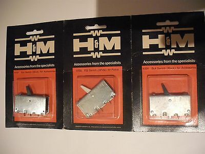 3 No UNOPENED PACKs HAMMANT & MORGAN SL4 POINT CONTROL LEVER SWITCH