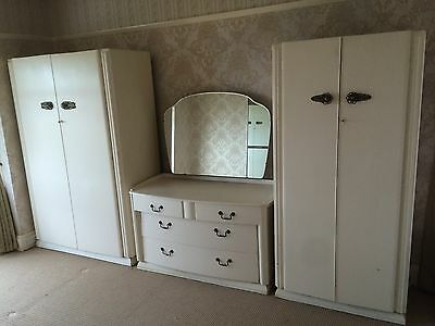 shabby chic Retro Dressing Table Wardrobe Vintage Mirror Bottomore Day Antique