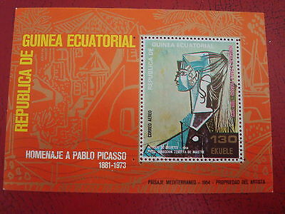 Equatorial Guinea - Picasso - Minisheet - Unmounted Used - Ex. Condition
