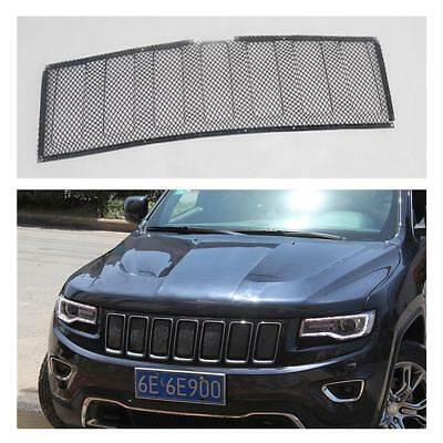 Front Bumper Grill 3D Mesh Grille Insert Black For Jeep Grand Cherokee 2014-2016
