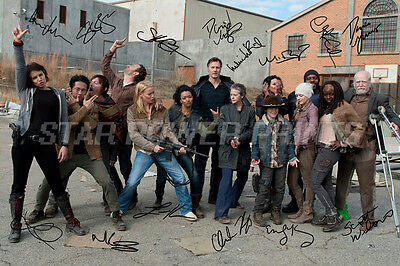 The Walking Dead Cast Signed Photo Print Poster N.o 2 - 12 X 8 Inch - A+ Quality