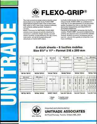 "UNITRADE - UNISAFE- FLEXO-GRIP ORDER #SF3S BLACK 3 STRIPS 5 PAGES SIZE 8.5""x11"""