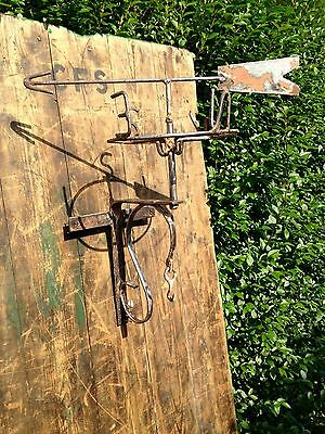 Reclaimed Iron Weather Vane Hanging Basket Apprentice Work Piece Antique N E W S