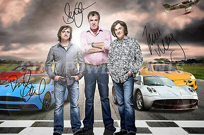 Top Gear Cast Signed Photo Print Poster N.o 2 - 12 X 8 Inch - A+ Quality