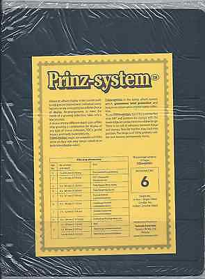 "Prinz (Hagner-style) Single-side B6 Stock Sheets 6 pocket (8½""x11"") Pack of 10"