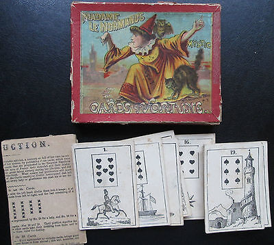 1887 LeNormand  Mystic Cards of Fortune Mcloughlin Bros N.Y. 36/36 old VERY RARE