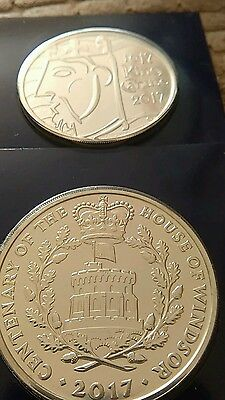 Both 2017 Five Pound £5 coins bunc. King Canute and House of Windsor