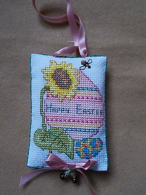 Completed Cross Stitch Decorative Hanging