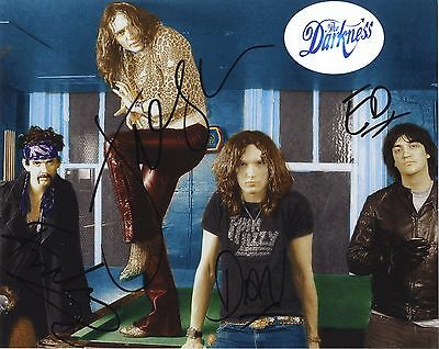 The Darkness - English Rock Band - Original Line-up I/P Signed Colour Photo.