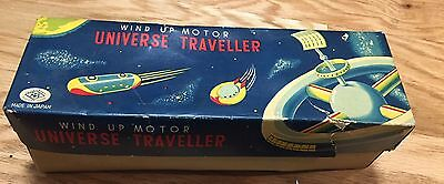 Universe Traveller Robot Space Toy Tin Japan Wind Up With Box VERY RARE!��������