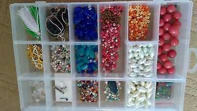 Mixed lot of beads and clasps for jewellery making ~ some Gemstones