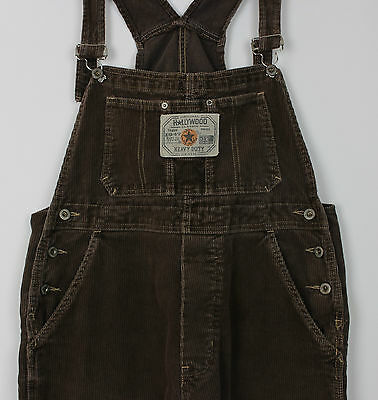 VTG LADIES CORDUROY OVERALLS JUMPSUIT BIB AND BRACE DUNGAREES 90s GRUNGE SIZE M