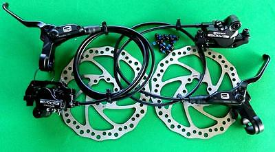 "2017/18 PROMAX ""SOLVE"" MTB HYDRAULIC DISC BRAKES  !!! BLACK, 160mm ROTORS,"