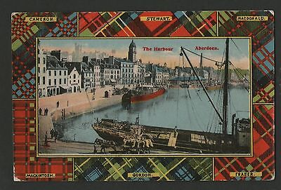 OLD 1900s THE HARBOUR, ABERDEEN, SCOTLAND. POSTCARD