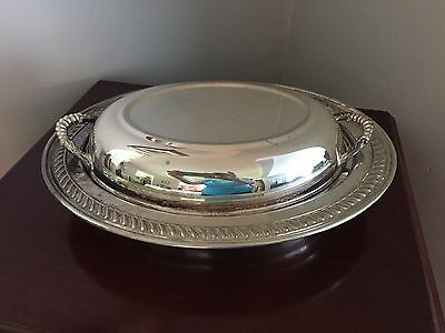 Vintage KS Silver Covered Serving Dish, Convertible Style