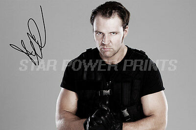 Dean Ambrose Signed Photo Print Poster - 12 X 8 Inch -