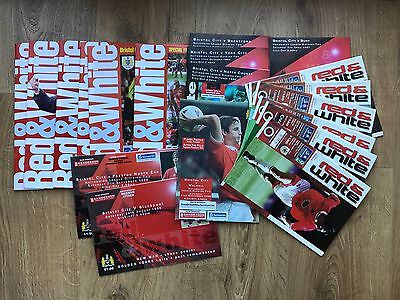 Bristol City football programmes 1996/1997/1999