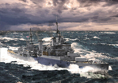 Hms Sheffield - Arctic Convoys Ww2 - Limited Edition Art (25)