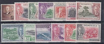 Dominica  1951    S G 120 - 132     Various Values To 60C  Mh