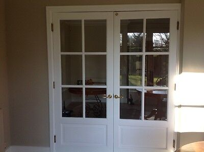 High quality, Double doors, White with glass panels