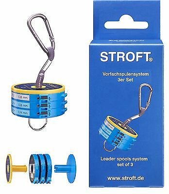 STROFT Vorfachspulensystem 3er Set Vorfachdispenser Vorfach Leader Spool System