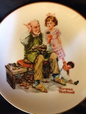 The Cobbler Plate By Norman Rockwell 7""