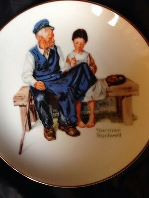 The Lighthouse Keeper's Daughter By Norman Rockwell Collector Plate 7""