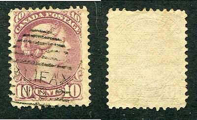 Used Canada 10 Cent Queen Victoria Small Queen Stamp #40 or 45 (Lot #9455)