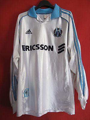 Maillot Adidas Ericsson Manche Longue Olympique Marseille 1998 Vintage OM - XL