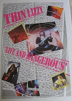 Thin Lizzy Live and Dangerous Original WB 1978 Promo Poster NEAR MINT