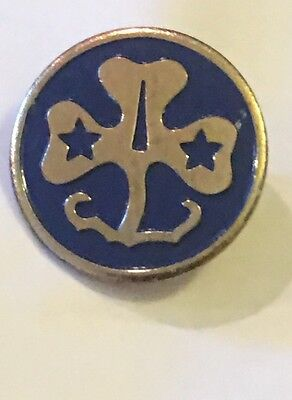 1980S Girl Scouts Of America Gold Tone Pin