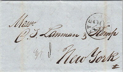 Lettre/Cover Lima Perou pour New-York 1860