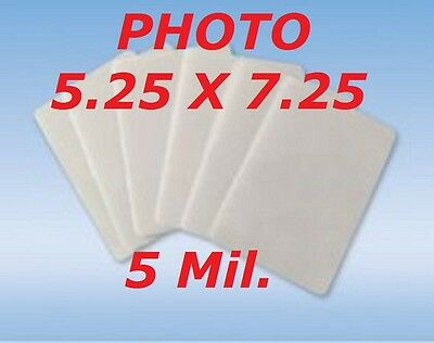 5 Mil Laminating Pouches Film Sheets Photo 5.25 x 7.25  100- Pack