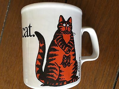 Vintage MOMCAT & Kitten- B. KLIBAN Coffee Mug -Kiln Craft 1979 So Cute